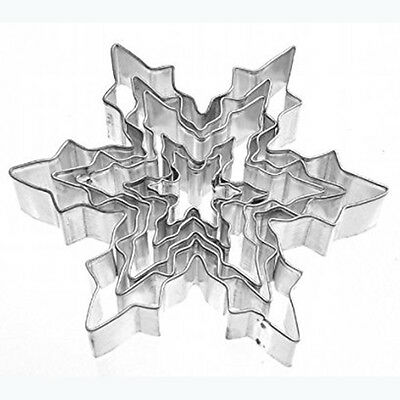 5pcs Snowflake Stainless Steel Cookie Mold Cake Baking Mould Cooking Tools