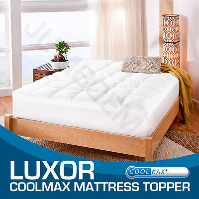 ALL SIZE-  1000GSM-Luxury CoolMax Fabric Pillowtop Mattress Topper/Protector