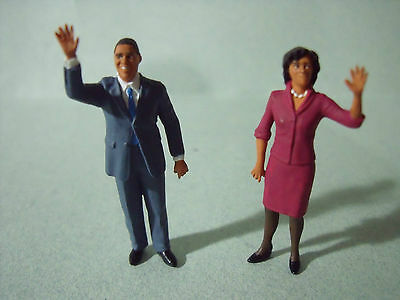 4  Figurines  Set 91  Usa   Barack  Obama  Vroom  1/43  A  Peindre  Unpainted