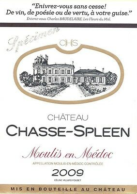 1bt Chateau Chasse Spleen 2009