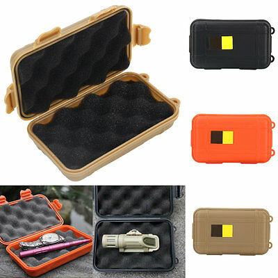 Portable Waterproof Survival Tool Case Storage Box Holder GW For Camping Hiking