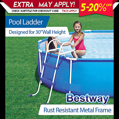 NEW Bestway Ladder for Above Ground Swimming Pool 76cm 30 inch Deep 58046