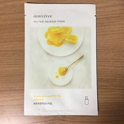1 Sheet Innisfree My Real Squeeze Mask Pack - Manuka Honey Moisturize