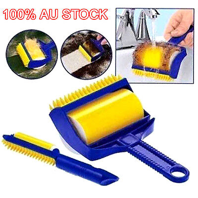 AU Reusable Sticky Lint Roller Picker Cleaner Buddy Tool Pets Hair Remover Brush