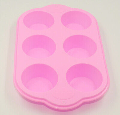 6 Cup Large Silicone Non Stick Bun/Muffin Tray Tin Baking Pudding Mold