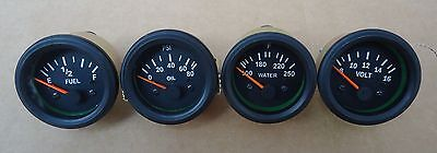 "Gauges Set- Oil Pressure +Temperature + Volt + Fuel Gauge 2"" Electrical VDO Typ"