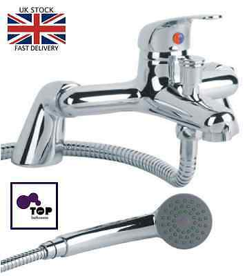 Modern Bath Shower Mixer Tap Complete Set with Hand-Held Shower