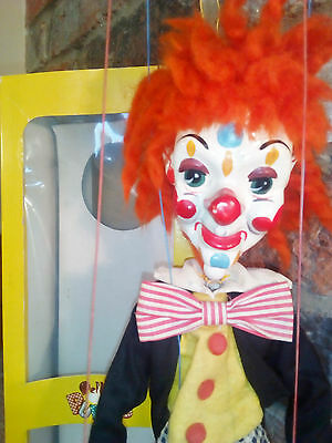 Pelham puppet BIMBO the Clown in original box stunning