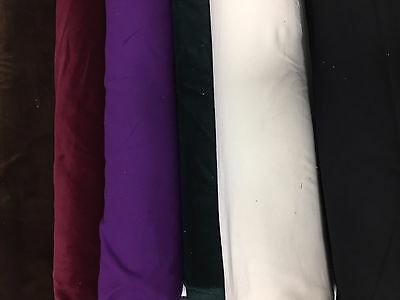 100% COTTON VELVET FABRIC Soft Dressmaking Costumes Upholstery Curtains 112CM