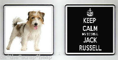 KEEP CALM MY DOG IS A JACK RUSSELL DRINKS COASTER (image size 90mm X 90mm) (1)