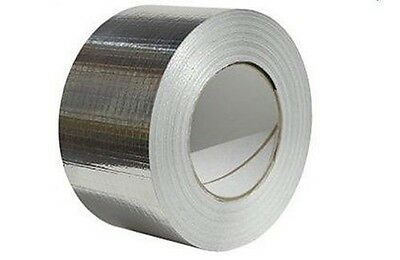 "Reinforced Aluminium Foil Tape - 48mm (2"") wide x 45mtr - Duct Tape - Insulation"