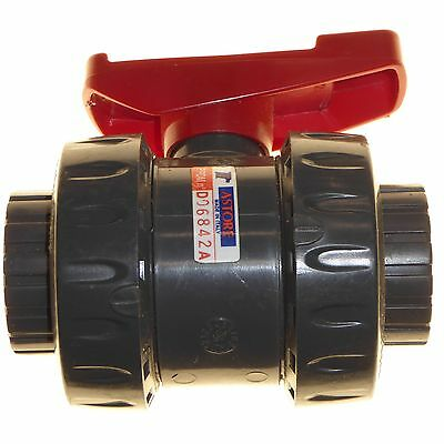 """Water pipe ball valve 25mm DN25 32 - 1"""" PN16 PVC plastic EPDM Astore Italy"""