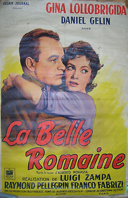 Authentique Affiche de CINEMA - GINA  LOLLOBRIGIDA - DANIEL GELIN -