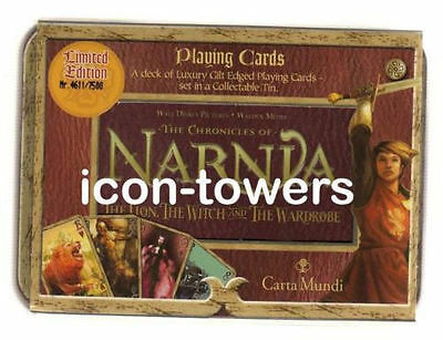 New NARNIA: THE LION, WITCH, WARDROBE LIMITED EDITION PLAYING CARDS : DISNEY