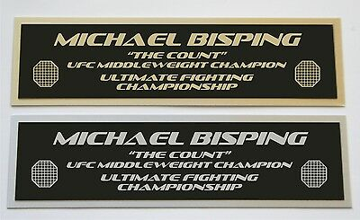 Michael Bisping UFC nameplate for signed mma gloves photo or case