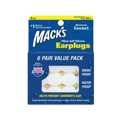 Bouchons Silicone multi-usages 6 paires Mack'sMacks