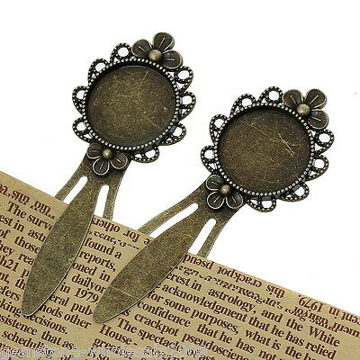 5PCS Wholesale W09 Hollow Flower Tongue Bookmark  Setting 8.3x2.3cm