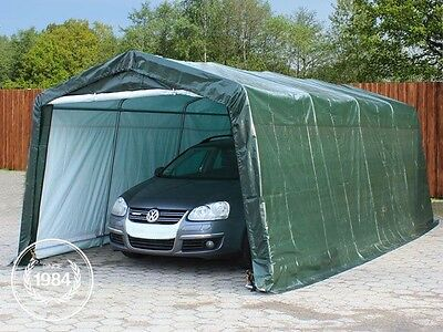 Portable Garage Storage Shed Shelter Tent Carport Car Canopy 3,3x6,2 m in green