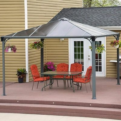 GAZEBO DURABLE LARGE OUTDOOR GARDEN CANOPY PATIO SUN RAIN 3.6 x 3.6 m