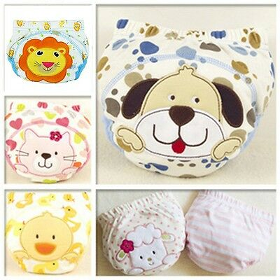 Animal Design For Pee Potty Baby Underwear Nappy Infant Panties Baby Diapers