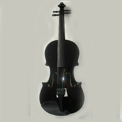 * New Black Musical Instruments Basswood Beginner Violin 1/4 3/4 4/4 1/2 1/8