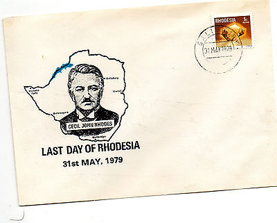 Last Day Of Rhodesia---31St May,1979.-Souvenir Cover