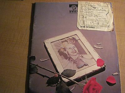 Evita Programme and Ticket - 27/1/1981