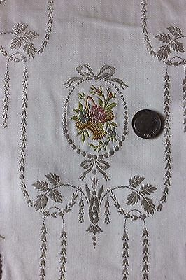 """""""Marie Antoinette"""" French Antique c1840-60 Woven Lyon Silk Sample Fabric"""