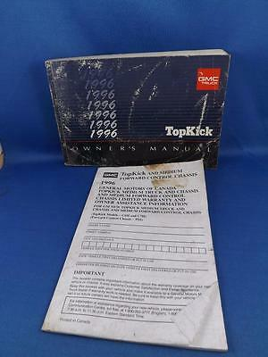 1996 Gmc Top Kick Owners Manual Truck & Warranty Assistance Information