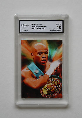 Floyd Mayweather 1 Of 25 Boxing J&l Art Card Rookie Gma Graded Gem Mint 10
