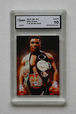 2010 Mike Tyson J&l Art  1 Of 25 Art Card Gma Gem Mint 10