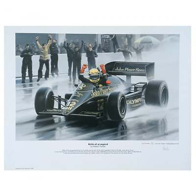 Birth of a Legend Ayrton  Senna by Robert Tomlin Ltd Edition Print Poster