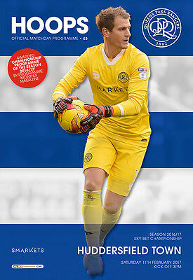 Qpr V Huddersfield Town - Official Programme - Championship - 11Th February 2017