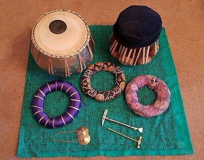 Traditional Indian Tabla set with hard case