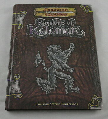 Dungeons and Dragons d20 3rd Kingdoms of Kalamar Campaign Setting K&C1000 w/Maps