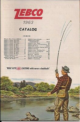 Vintage 1963 ZEBCO Rod and Reel Sales Brochure