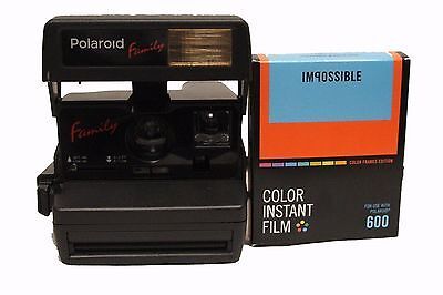 Polaroid 600 Family Camera with NEW Impossible 600 Film with Colour Borders