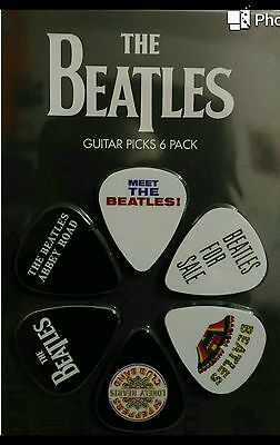 Set 6 Plettri Chitarra Perri's The Beatles Idea Regalo Elettrica Classica