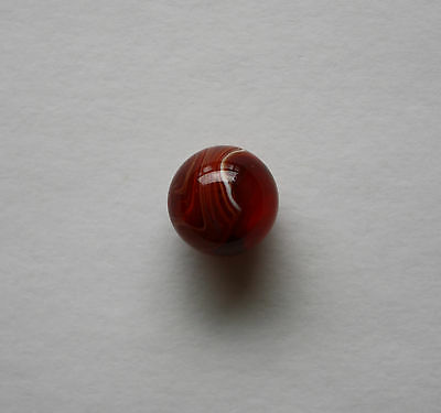 "Vintage Christensen 11/16"" Agate Red Slag Marble In Beautiful Condition"