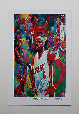 "Lebron James ""king James"" Fine-Art Print Signed By Artist To The Stars Winford"