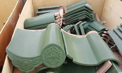 Ceramic Roof Tiles green (Price is per pc and each pc is 1 SF)