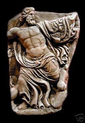 Zeus wall plaque stone relief plaque art sculpture home garden decor collector