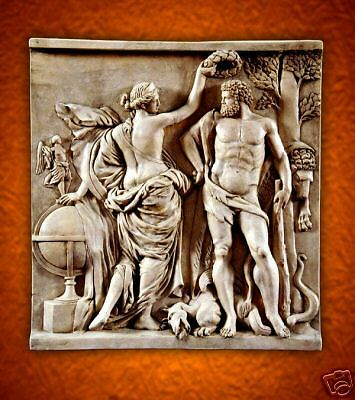 Venus Aphrodite Hercules stone wall backsplash art tile relief home garden decor