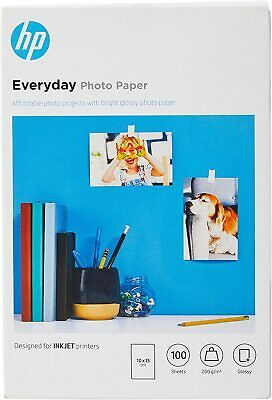 """HP Everyday Glossy Photo Paper 6""""x4"""" 100 Sheets 200gsm 10x15cm"""