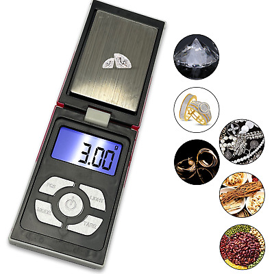 Digital Electronic LCD Mini Pocket Scales Gold Jewellery Weighing 0.01 - 100G