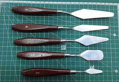 5pc Artist Palette Knife Trowel Spatula Art Craft Oil Acrylic Hobby Painting