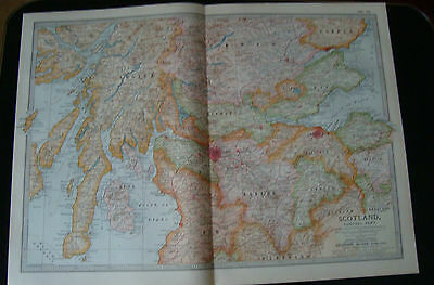Map Britannica 1903 Scotland Central Part
