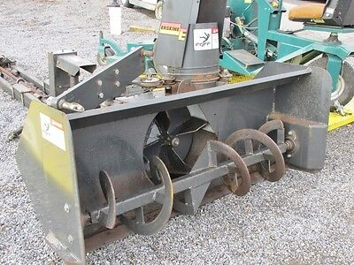 "Used 54"" Erskine Snow Thrower, Tractor Front Mount, Hydraulic Lift & Rotate Pto"