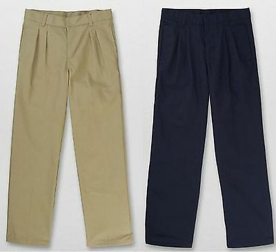 French Toast Boys Pleated Pants Khaki or Navy  NEW   School Uniform