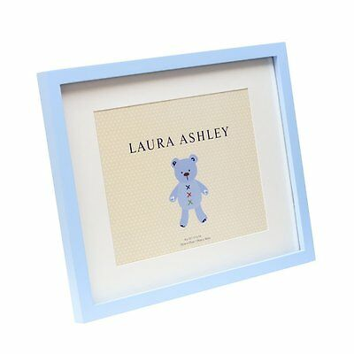 "Isaac Jacobs Laura Ashley Blue Baby Boy Wood Frame W/White Mat 11""x14"" New Nwt"